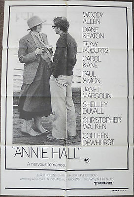 ANNIE HALL (1977) Original Australian One Sheet Movie Poster Woody Allen