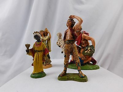 Vintage Lot of Fontanini Early Italy Christmas Religious Figures Group Nice