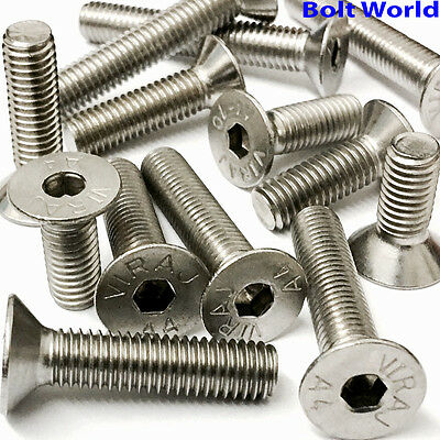 A4 Marine Grade Stainless Steel Countersunk Bolts Socket Screws M4,m5,m6,m8,m10