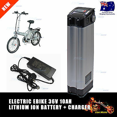 36V 2A Charger + 36V 10AH Lithium Li-Ion Electric eBike Bicycle Ebike Battery au