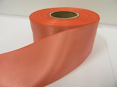 3mm 7mm 10mm 15mm 25mm 38mm 50mm DARK CORAL PINK Satin Ribbon double sided roll