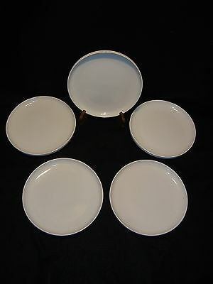 """Tabletops Gallery STAX LIVING PURE WHITE 10 1/2"""" DINNER PLATES Lot x 5 Exc. Cond"""