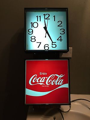 NEW 1976 Vintage Coca Cola Coke Ingress-Plastine Clock Model G017 MINT IN BOX
