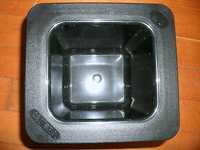 "Cambro Coldfest GN 6"" (15cm) Deep Black Cold Pan *NEW* p/n 66CF110"