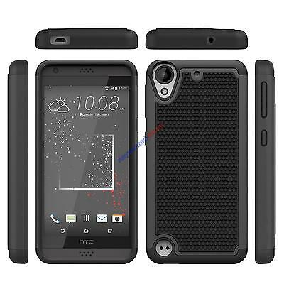 For HTC Desire 530 / Desire 630 Black Case Hybrid Protective Shock Proof Cover