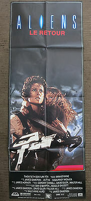 ALIENS (1986) Original French Door Panel Movie Poster Sigourney Weaver