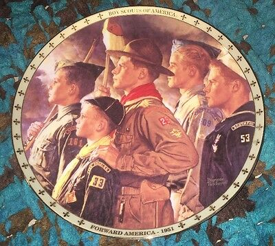 NORMAN ROCKWELL Collectible Plate BOY SCOUTS of AMERICA Forward America 1951