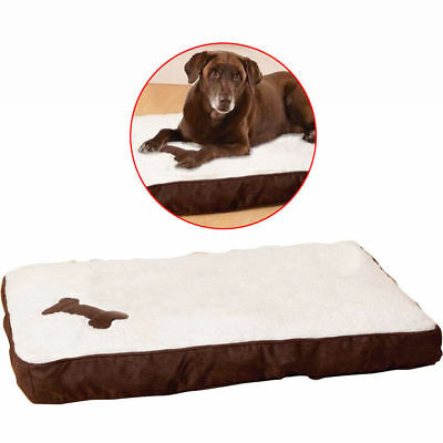 90cm Deluxe Orthopaedic Memory Foam Pet Bed Large Mattress/Fleece Cover Dog/Cat