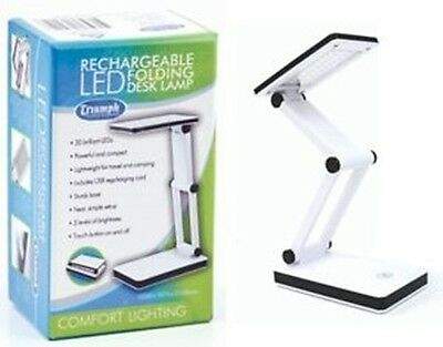 Triumph Rechargeable Folding Desk Lamp - Table Light Craft Hobby Compact LED USB