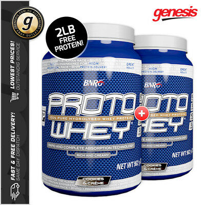 BNRG 2x Proto Whey WPI *2LB Cookies & Cream* - Cookie Lovers! SHORT DATED STOCK!