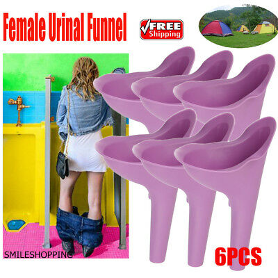 2PCS Female Lady Urine Urinal Funnel Urination Toilet Festivals Camping Device