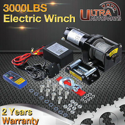 3000LB-13000LB 12V Electric Winch Wireless Remote Trailer Truck Boat SUV ATV 4WD
