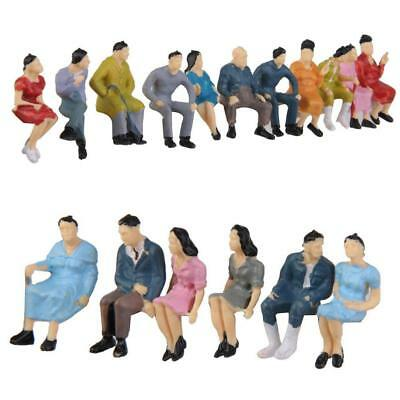 HO Scale 1:87 Painted Model People Figure / Seated Passenger Kids Baby Toys
