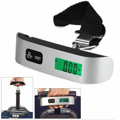50kg/10g LCD Digital Fish Hanging Luggage Weight Electronic Hook Scale Lot HL