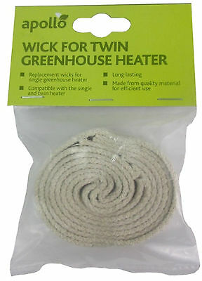 Pack 4 Replacement Wicks for Paraffin greenhouse Heaters Parasene and Apollo