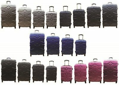 "20 24"" 28"" 32"" Hard Shell Suitcases 4 Wheel Spinner Luggage Case Set"