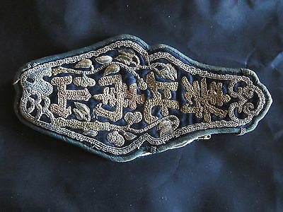 Antique Chinese very fine,embroidered fan/scent case. FREE SHIPPING