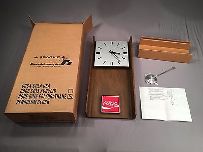 NEW IN BLACK BOX 1974 Antique Coca-Cola Coke Benco G016 CCA366 Pendulum Clock