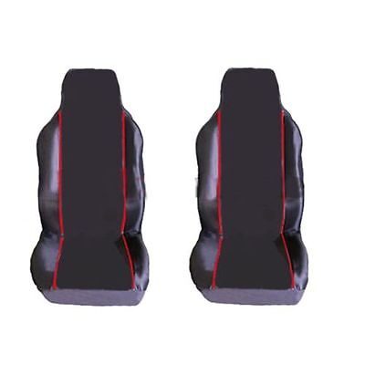 Volvo C70 All Models  1+1 Front Seat Covers Black Red Piping