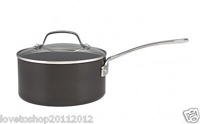 Circulon Genesis Plus Hard Anodized Covered Saucepan 20cm Black 83649