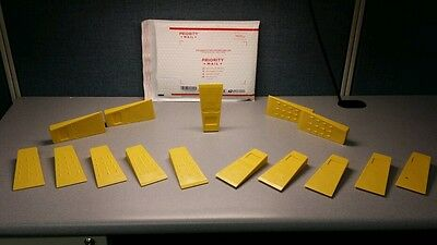 "Set of 15 Tree Felling Falling Felling Wedges Yellow 5.5"" Plastic Logging Wedge"