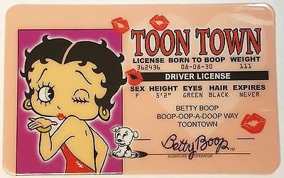 Betty Boop Toon Town - Driver's License - Novelty Funny