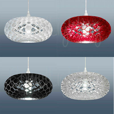 Loren Funky Modern Ceiling Light Shade In Black, Red, White Or Clear