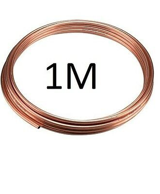 "NEW 3/16"" (approx 5mm) microbore gas water copper plumbing pipe/tube, 1m UK"