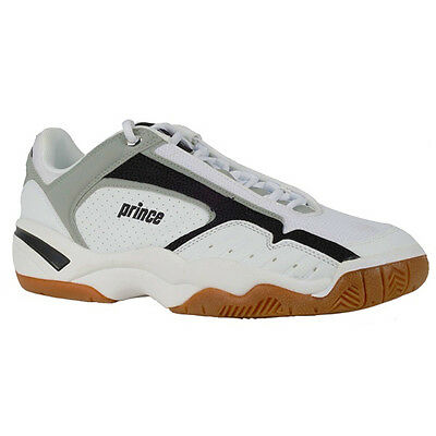Prince NFS Indoor IV Squash Shoe Trainer - White / Black / Red - CLEARANCE UK 9