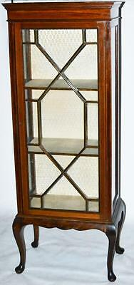 Antique Mahogany Inlaid Display Cabinet [PL2821]