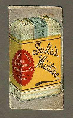 DUKE'S TOBACCO Booklet Style Advertisement 1880s Smoking and Chewing Sweet Smoke