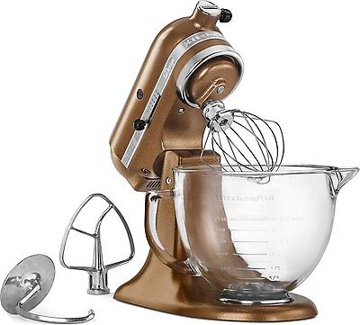 Kitchenaid KSM155GBQC 5Quart Tilt Head Stand Mixer Glass Bowl