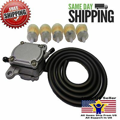Gas Fuel Pump Petcock Scooter Moped Go Kart Gy6 50Cc- 250Cc Fuel Line & Filters
