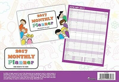 2017 A4 Wall Planner Calender Monthly Family Organizer Calendar Home Work Purple
