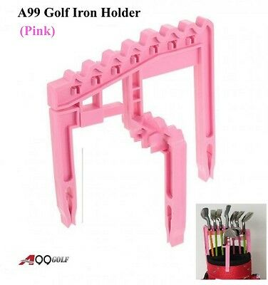 A99 Golf 9 Iron Club Holder Organize Universal Above Bag Durable Pink Lady Gift