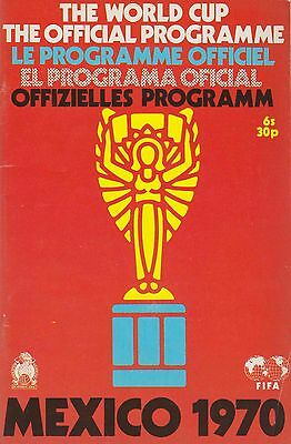 England 1970 Official  Cup Mexico Official Programme