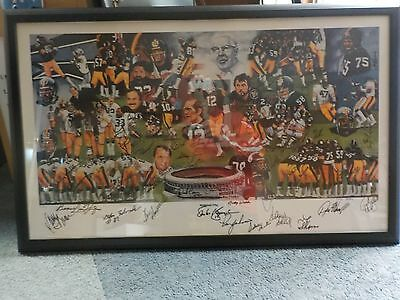 PITTSBURGH STEELERS Team of the Decade Autograph Lithograph 50+ Auto's HOF COA