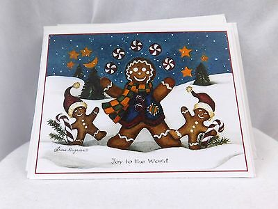 Lovely Laura korogaden Unused Lot of 8 Adorable Christmas Cards w/ Envelopes