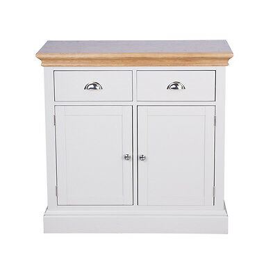 Painted Oak 2 Door 2 Drawer Sideboard Fully Assembled RRP £489