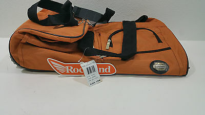 NEW Rockland Luggage 22 Inch Rolling Duffle Bag Orange One Size - See Details