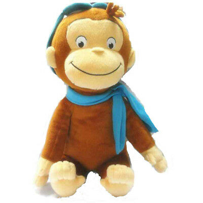 "New 12"" CURIOUS GEORGE PLUSH DOLL SCARF MONKEY PLUSH TOY"