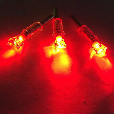 3*Lighted Nock Crossbow bolts Nock Led Lighted arrow Nock for ID 7.6mm crossbow