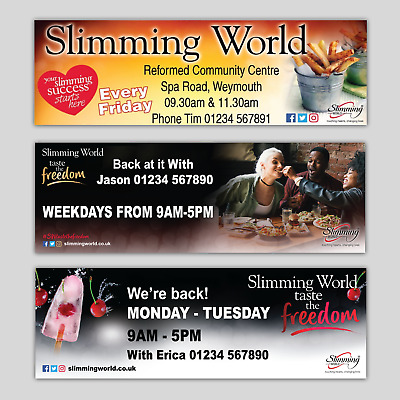 Personalised Slimming World Pvc Vinyl Outdoor Banners Various Size