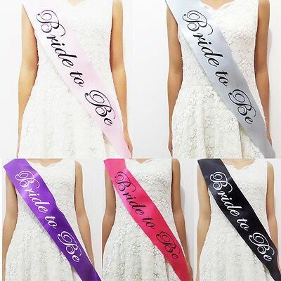 Lady Night Out Hen Party Bride To Be Satin Sash Bachelorette Bridal Party Decor