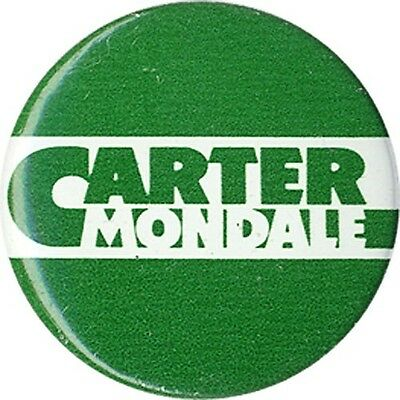 1976 Jimmy CARTER Walter MONDALE Logo Button (3677)