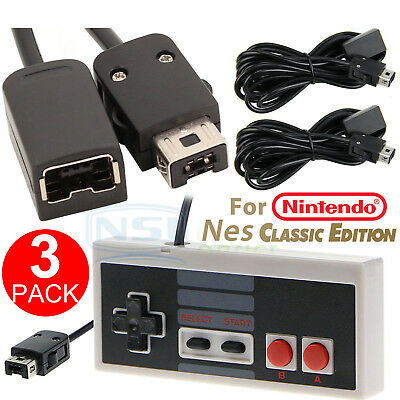 1 PC Game Controller+2 PCS Extension Cable for Nintendo NES Mini Classic Edition