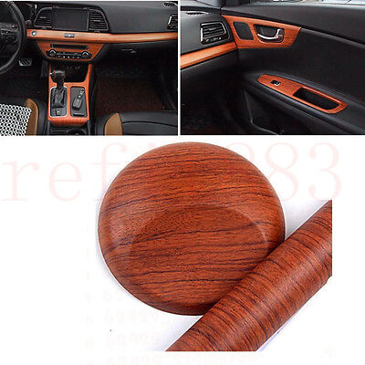 18x48 car pickup interior wood grain texture vinyl wrap sticker decal teak red. Black Bedroom Furniture Sets. Home Design Ideas