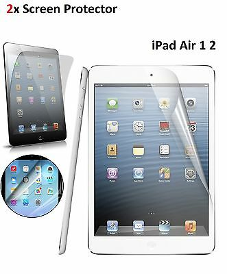2x New HD Dust Proof Ultra Clear Screen Protector Film Guard For iPad Air 1 2