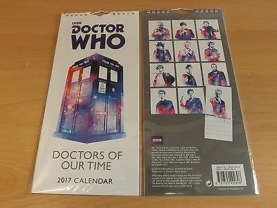 Doctor Who Slimline Calendar 2017 ~ BBC Doctors Of Our Time