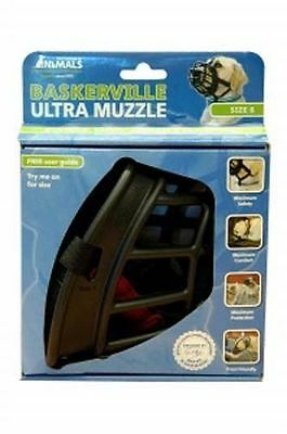 Baskerville Ultra Dog Muzzle Adjustable Deluxe Dog Muzzle Black Size 6